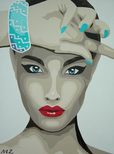 Michaela Zottler, Fashion girl, People: Women, People: Portraits, Pop-Art, Expressionism