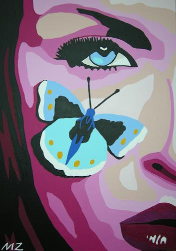 Michaela Zottler, Butterfly girl, People: Women, People: Portraits, Pop-Art
