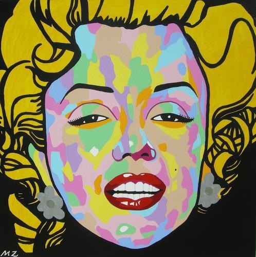 Michaela Zottler, Funky Marilyn, People: Women, People: Portraits, Pop-Art, Abstract Expressionism