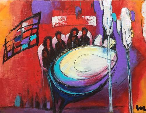 miro sedlar, white table, Abstract art, Abstract Art