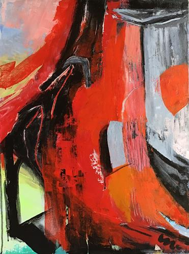 miro sedlar, Red wall, Abstract art, Abstract Art
