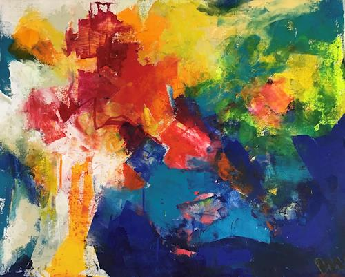 miro sedlar, Bunch of flowers, Abstract art, Abstract Art
