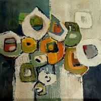 A. Fusenig, Komposition mit Grün