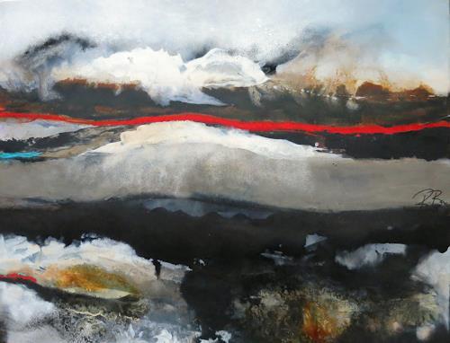 bärbel ricklefs-bahr, Fuzeta, Abstract art, Landscapes, Abstract Art, Abstract Expressionism