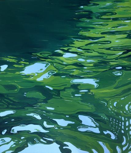 Regina Köppen, Wasser 1, Landscapes, Nature, Contemporary Art, Expressionism