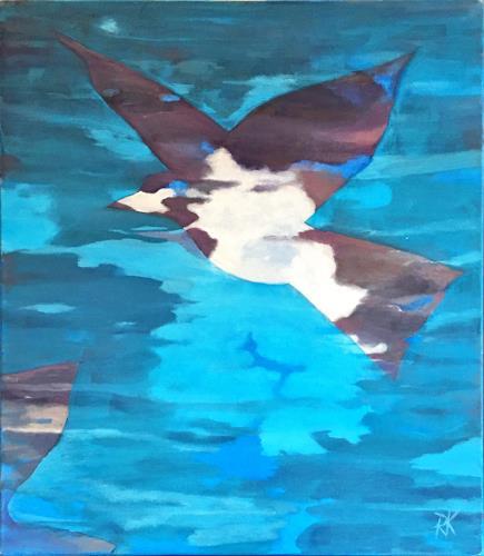 Regina Köppen, Fly, Nature, Animals, Contemporary Art, Expressionism