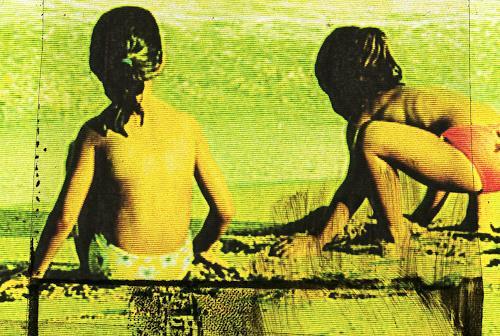Carola Schmitt, Barceloneta - Beach, People: Children, Pop-Art, Expressionism