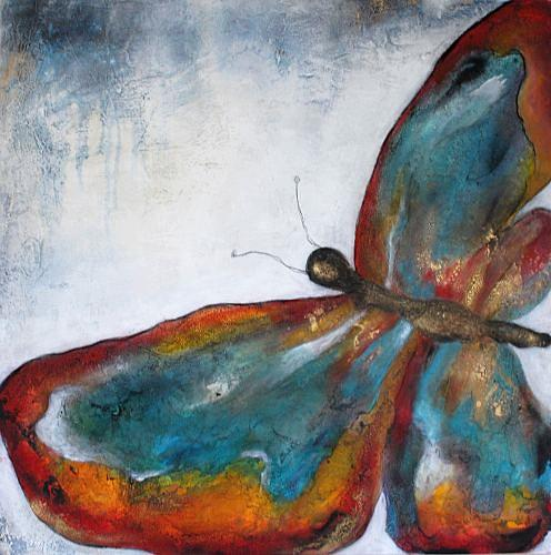 Cornelia Hauch, Papillon, Abstract art, Miscellaneous Animals, Abstract Expressionism
