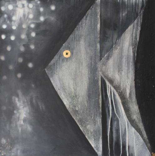 Cornelia Hauch, Nachts unter Wasser, Abstract art, Animals: Water, Abstract Expressionism