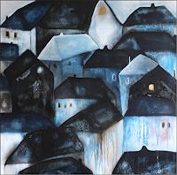 Cornelia-Hauch-Abstract-art-Buildings-Houses-Modern-Age-Abstract-Art