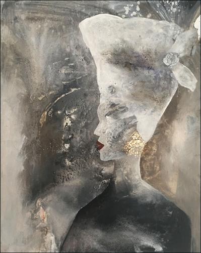 Cornelia Hauch, Die Gouvernante, People: Women, Abstract art, Abstract Art