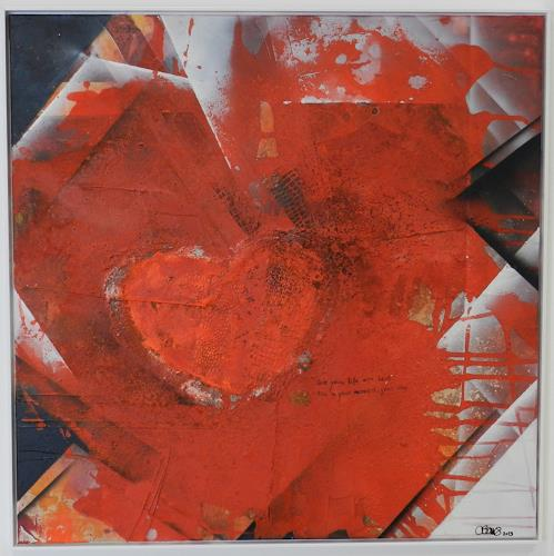 Cécile Banz, live your life, Abstract art, Emotions: Love