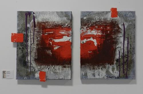 Cécile Banz, heartfull, Abstract art