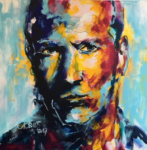 Cécile Banz, Jason, People: Portraits, People, Expressive Realism, Abstract Expressionism