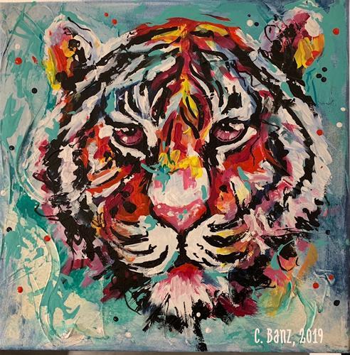 Cécile Banz, Die Kraft, Animals, Colour Field Painting