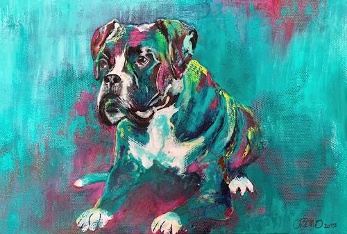 Cécile Banz, Diva, Animals: Land, Fantasy, Colour Field Painting