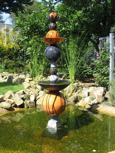 Mario Geister, Brunnen im Brunnen, Stele / Wassersäule, Interiors: Gardens, Expressionism