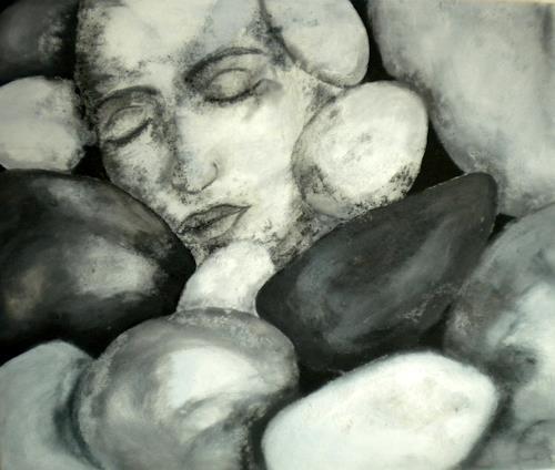 Claudia Neusch, Auch Steine haben eine Seele, Abstract art, People: Faces, Modern Age, Abstract Expressionism