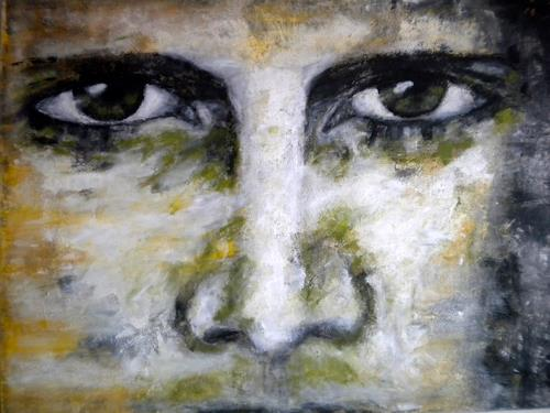Claudia Neusch, Augenblick I, People: Faces, Abstract art