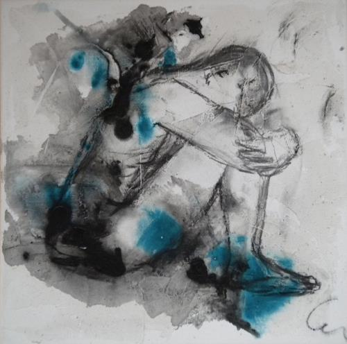Claudia Neusch, o. Titel, Erotic motifs: Male nudes, Abstract art, Contemporary Art