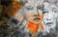 Claudia-Neusch-People-Faces-Abstract-art-Modern-Age-Modern-Age