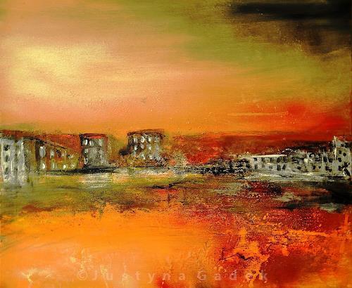 Justyna Gadek, Vor dem Sturm, Abstract art, Miscellaneous Landscapes, Contemporary Art
