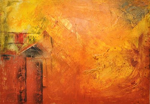 Justyna Gadek, Lucky village, Abstract art, Miscellaneous Buildings, Contemporary Art, Expressionism