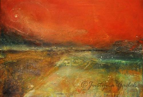 Justyna Gadek, Abendröte, Abstract art, Miscellaneous Landscapes, Contemporary Art