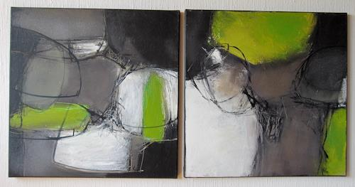 Rose Lamparter, 0.T.2-tlg, Abstract art, Contemporary Art