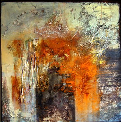 Rose Lamparter, Rost-Grau, Abstract art, Abstract Art