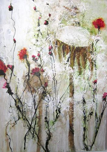 Rose Lamparter, Wiese, Plants: Flowers, Abstract art, Modern Age, Expressionism