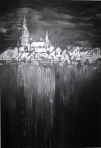 Rose Lamparter, Münster schwarz-silber, Abstract art, Contemporary Art