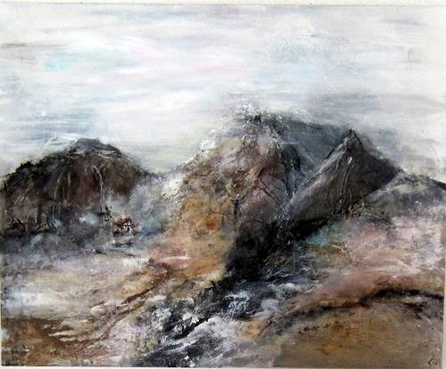 Rose Lamparter, Berge, Landscapes, Happening, Abstract Expressionism