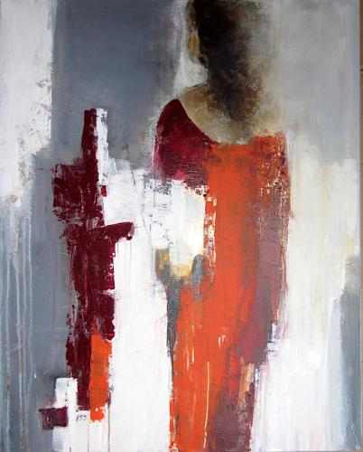 Rose Lamparter, Dame in rot, Abstract art, Abstract Art, Expressionism