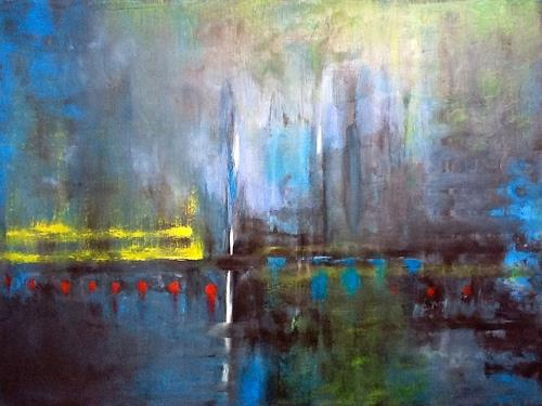 Roswitha Klotz, oT 70/5, Abstract art, Landscapes: Sea/Ocean, Abstract Art, Expressionism