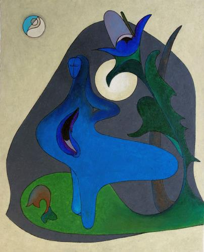 Roswitha Klotz, Blue Night, Abstract art, Poetry, Abstract Art, Expressionism