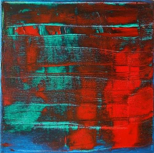 Roswitha Klotz, Red on Blue 70/52, Abstract art, Miscellaneous Music, Abstract Art, Abstract Expressionism