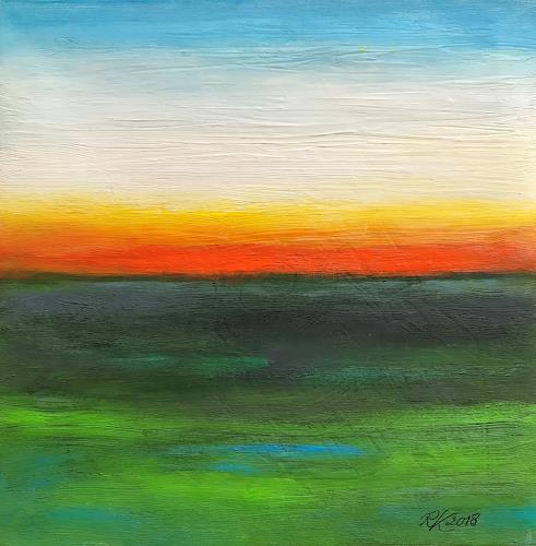 Roswitha Klotz, Abendstimmung, Nature, Abstract Art