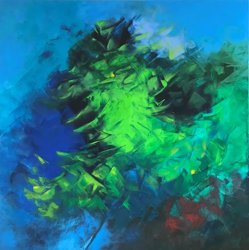 Roswitha Klotz, Green Sounds, Nature, Miscellaneous Plants, Abstract Art, Expressionism