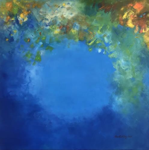 Roswitha Klotz, Meditation, Abstract art, Fantasy, Colour Field Painting