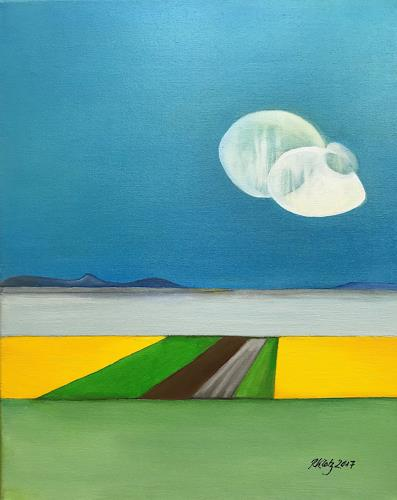Roswitha Klotz, Cloudlets, Landscapes, Emotions: Joy, Primitive Art/Naive Art