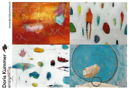 Doris Kummer, Einladungskarte Uzwil, People, Abstract Art