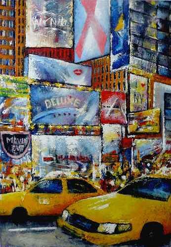 Gabriele Schmalfeldt, N.Y., Traffic, Interiors: Cities, Contemporary Art