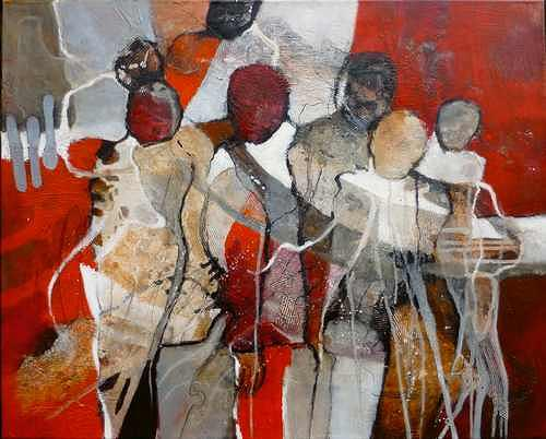 Gabriele Schmalfeldt, o.T., Society, People: Group, Abstract Art, Abstract Expressionism