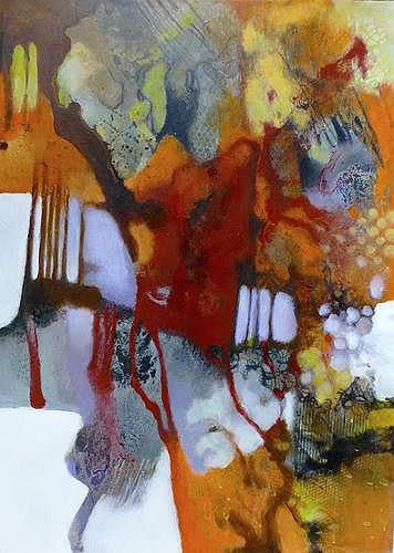 Gabriele Schmalfeldt, Weinlese, Nature: Miscellaneous, Harvest, Contemporary Art, Abstract Expressionism