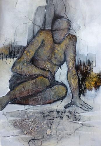 Gabriele Schmalfeldt, Loreley, Landscapes, Mythology, Contemporary Art, Abstract Expressionism