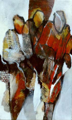 Gabriele Schmalfeldt, o.T., People: Group, Society, Contemporary Art, Expressionism