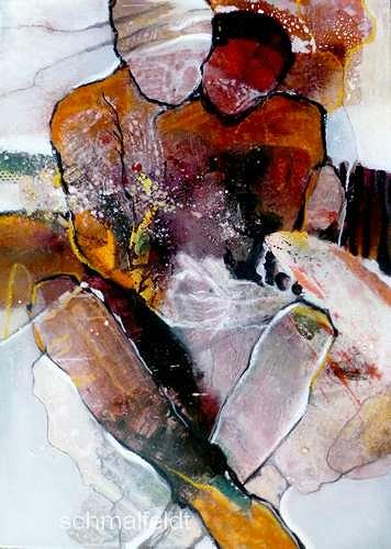 Gabriele Schmalfeldt, Geborgenheit, People: Couples, Society, Abstract Expressionism, Expressionism