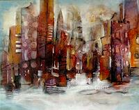 Gabriele-Schmalfeldt-Interiors-Cities-Miscellaneous-Buildings-Modern-Age-Expressionism-Abstract-Expressionism
