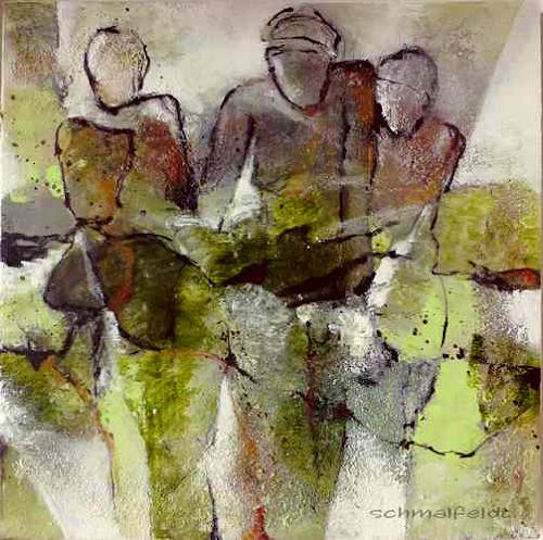 Gabriele Schmalfeldt, o.T. 06/19, People: Group, Abstract art, Contemporary Art, Abstract Expressionism